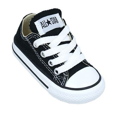 Converse Chuck Taylor All Star Ox Top Black White Toddler Boy Girl Shoes New