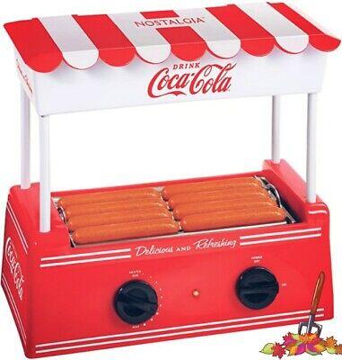 Hot Dog Roller Bun Warmer Adjustable Heat Machine Cooker Grill Retro Kitchen New
