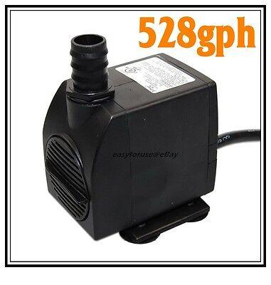 528gph Submersible Indoor Outdoor Fountain Pump Hydroponics 45 Watts 9.8 FT -
