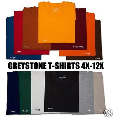 Big   Tall Size Greystone T Shirts Heavy Duty No Pocket 101 5X 6X 7X 8X 10X 12X