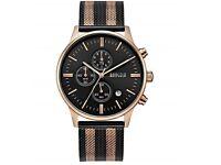 Men's Milan Mesh Strap Quartz Watches Stainless Steel Classic Chronograph Analogue Dress Wrist Watch