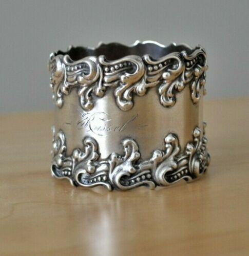 Rococo Woodside Sterling Silver Napkin Ring