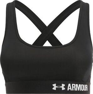 7e2e77976175a Under armour ladies women s sports bra cross back black S small gym running  bnwt