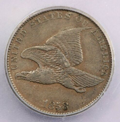 1858 Flying Eagle Cent Small Letters ICG EF40 XF40