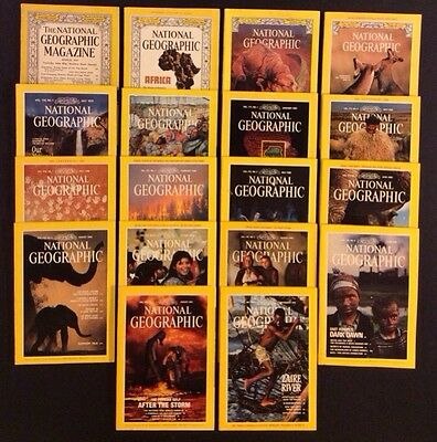 National Geographic Magazines 1958 1991 Lot Of 18 Issues Africa Dinosaurs Baltic