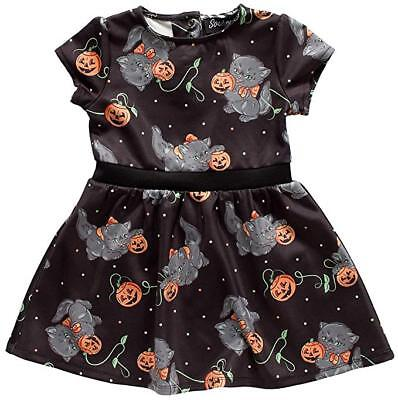 Sourpuss für Katzen Gespenstisch Halloween Kürbisse Gotik Kinder Kleinkind Kleid