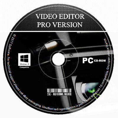Professional Video Editor Movie Maker Trim, Cut, Split, Mix, Rotate  PC & MAC CD
