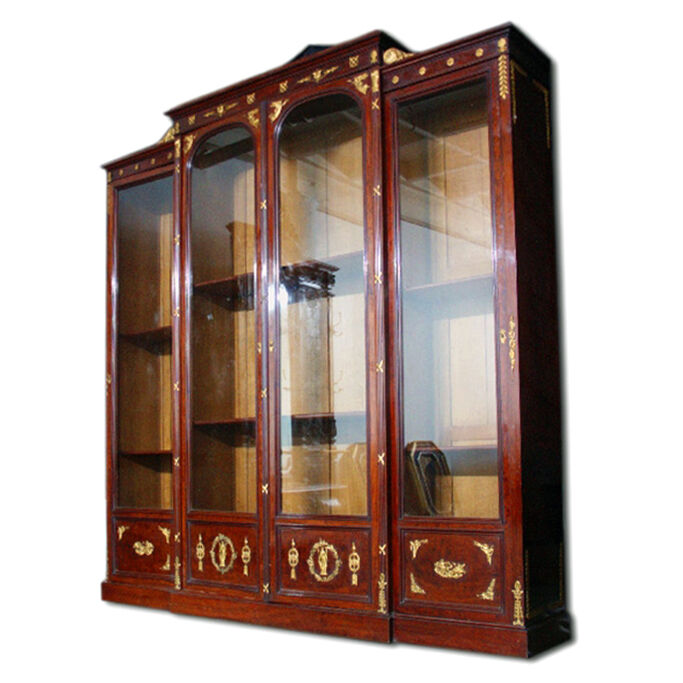 Empire Style Bookcase Signed by F. Linke #7009