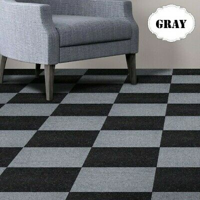 Carpet Tiles Peel And Stick Self Adhesive Squares Grey Gray Basement Flooring
