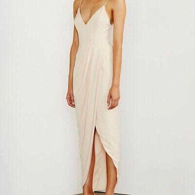 $279 Revolve Shona Joy Nude Core Cocktail Maxi Draped Dress Size 6
