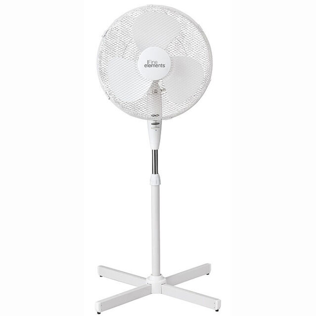 "Electric 16"" Oscillating Extendable Free Standing Tower Pedestal Cooling Fan"