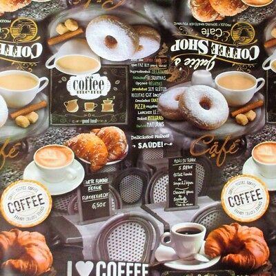 Tovaglia di tela cerata merce al metro K70A caffè prima colazione