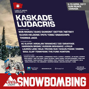 Package for 2 to Snowbombing Canada in Kamloops - 4 Night hotel