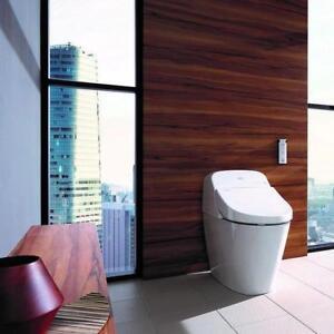 Toilette avec bidet intégré en céramique 16po, Toto