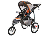 Graco FastAction Fold Jogger Stroller Click Connect Stroller, Tangerine, Used 3 times