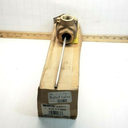 "NEW WATTS SELF CLOSING TEMPERATURE/PRESSURE SAFETY RELIEF VALVE 1"" NPT N240X-9"