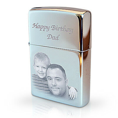 Personalised Genuine ZIPPO Lighter Engraved with Photo and Text | Christmas Gift