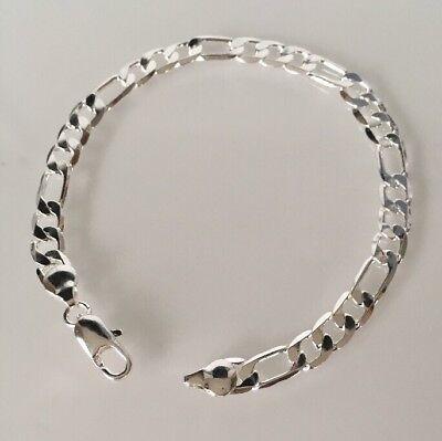 Schönes Armband 925 Sterling Silber plattiert Kette Damen Herren Schmuck P80