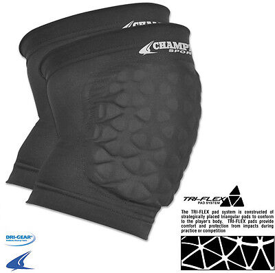 Champro Tri-Flex Protective Elbow/Knee Pads Dri-Gear Football, Basketball