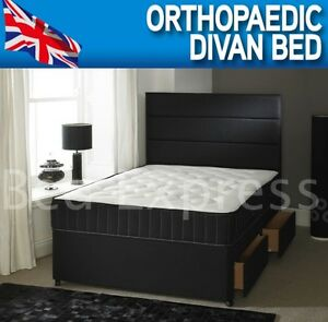 4ft small 4ft6 double orthopaedic divan bed 10 inch for 4ft divan beds for sale