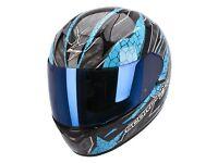 New Scorpion EXO-410 Rad Blue Motorcycle Helmet