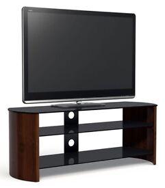 SANDSTROM S1250CW15 Black Glass & Wood 3 Shelf TV Stand, BNIB RRP £199.99