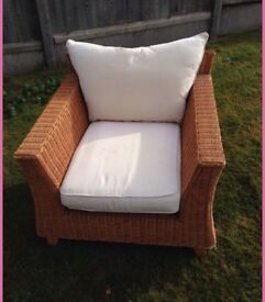 """Two """"next"""" wicker Chairs in great condition cost £200 each a year ago perfect condition £80"""