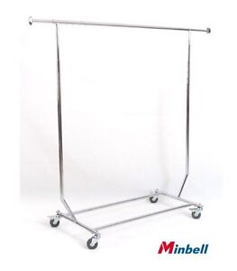 Commercial grade rolling clothing racks