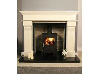 Stove wood burning stove cast iron 4:5kw NEW