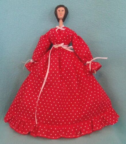 Vintage Folk Art Wooden Jointed Doll
