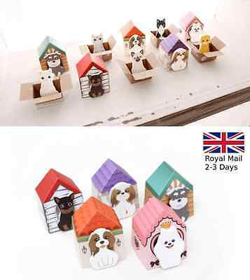 Funny Puppy House Dog Cat In Box Sticker Bookmark Mark Tab Memo Sticky Notes