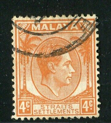 D261470 Malaya Straits Settlements VFU King George VI 4 c. 1937-41 Sc. 240