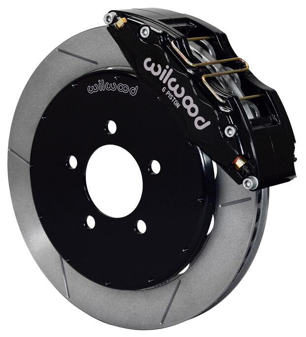 """Wilwood Disc Brake Kit,front,05-13 Mazda 3,13"""" Rotors,6 Piston Black Calipers"""