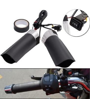 2X 12V Motorcycle Three-way Switch Electric Hand Heated Handle Heater Warmer Kit