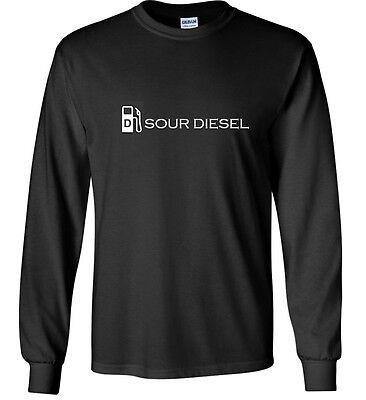 Sour Diesel Long Sleeve T-Shirt 420 Kush Marijuana Pot Cotton Shirt S - 3XL
