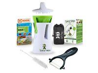 Spiral Ninja Vegetable Spiralizer Bundle - Zoodle Slicer - With Ceramic Peeler