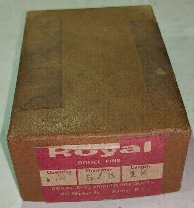"""Pack of 25 - 5/8"""" x 1-1/4"""" Royal Dowel Pins Alloy Steel"""