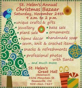 St. Helen Christmas Bazaar—Beamsville