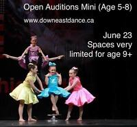 Competitive Program Auditions for 2017-2018
