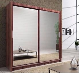 💗💖CHRISTMAS SALE💗💖 BERLIN Sliding Wardrobe with Full Mirror 2 Door 203cm Available IN 4 COLORS