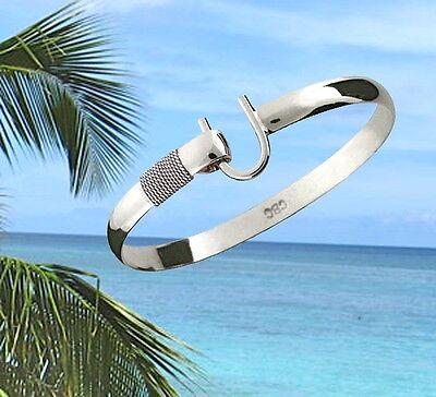 6mm .925 Sterling Silver ST. CROIX Caribbean Hook Bracelet - Size 8 ()