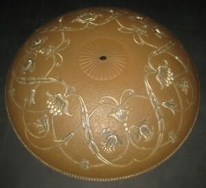 Wonderful Large Antique Ceiling Light Shade