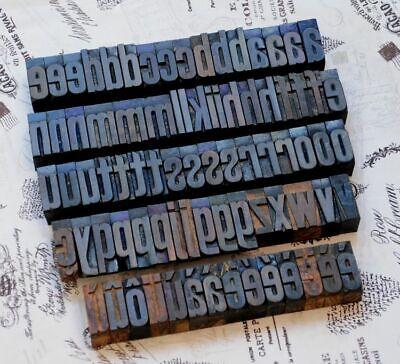 A-z Alphabet 1.61 Letterpress Wooden Printing Blocks Wood Type Vintage Print
