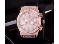 Hublot diamond gold iced out not Audemars piguet Rolex Cartier watch