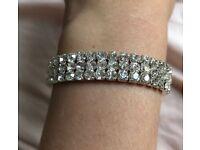 Brand new sliver diamond costume bracelet with gift box