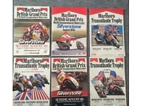 A rare collection in good condition 1980s racing programs with Marlboro advertising