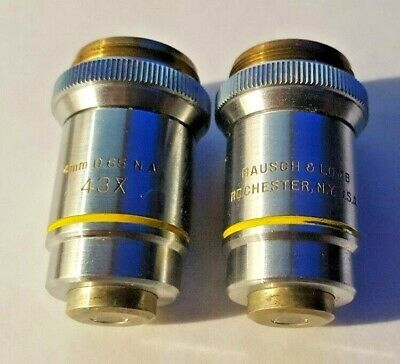 Bausch Lomb 43x 4mm 0.65 Microscope Objective Lens