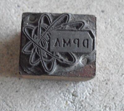 Vintage Jonker Wood Metal Letterpress Print Block Stamp
