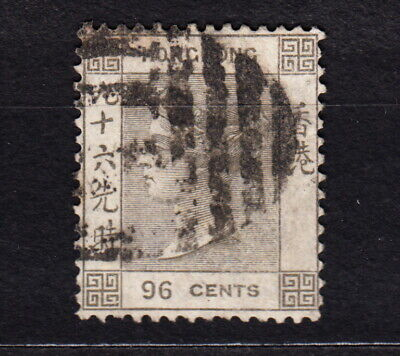 1866 Hong Kong 96 Cents #24 Used w/Wtmk Queen Victoria Gray-Brown