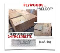 """(443-16)  PLYWOODS """"SELECT"""" {CHITING / ÉPINETTE}  0.59$ /ch."""